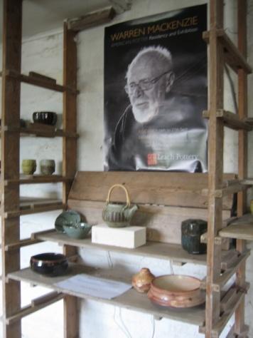 Warren Mckenzie pots at Leach Pottery