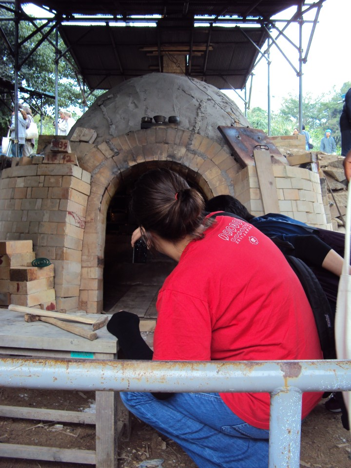 Opening the Anagama kiln