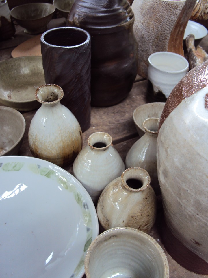 More work fired in the Anagama Kiln