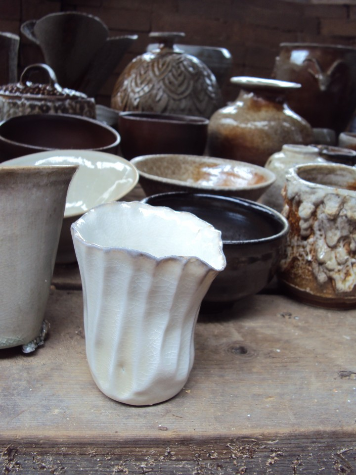 Work fired in the Anagama kiln