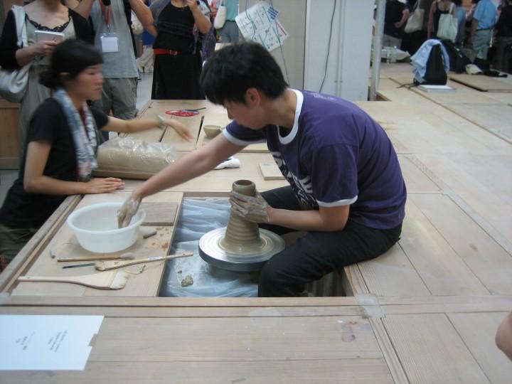 Yin Hang from China demonstrating