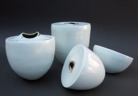 'Emerge' and 'Within' vessels by Elaine Bolt