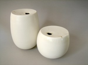 Elaine Bolt 'Milk Top' vessels