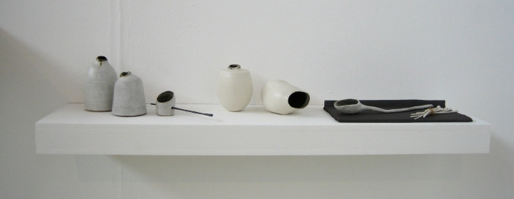 Ceramics by Elaine Bolt at the UCA Farnham MA show 2012