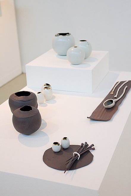 Ceramics by Elaine Bolt, on display at the MAde 2012 MA show