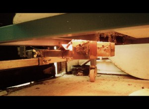 Under the kiln