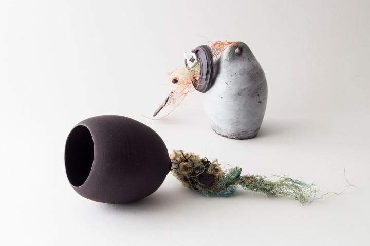 Ceramics and Mixed Media objects by Elaine Bolt (photograph: Yeshen Venema)
