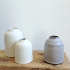 Chalk cream and Stone grey bottles by Elaine Bolt