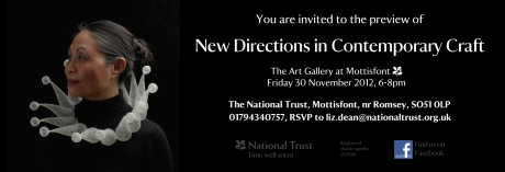 New Direction in Contemporary Crafts, preview invite