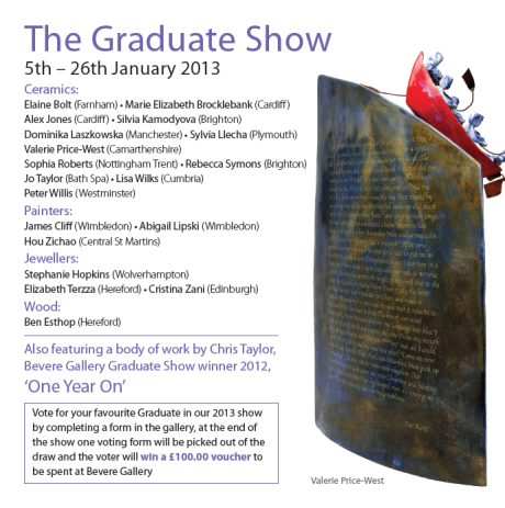 Bevere Gallery graduate show