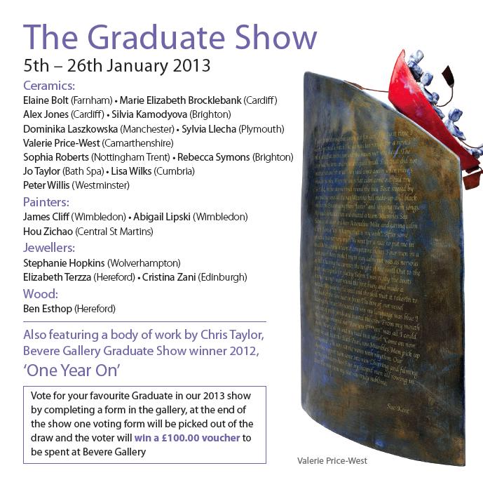 Bevere Gallery graduate show