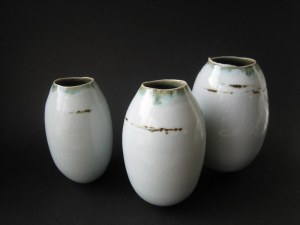 Elaine Bolt, 'Dwelling' vessels - group of three