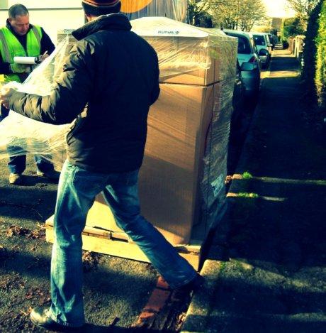 The kiln arrives