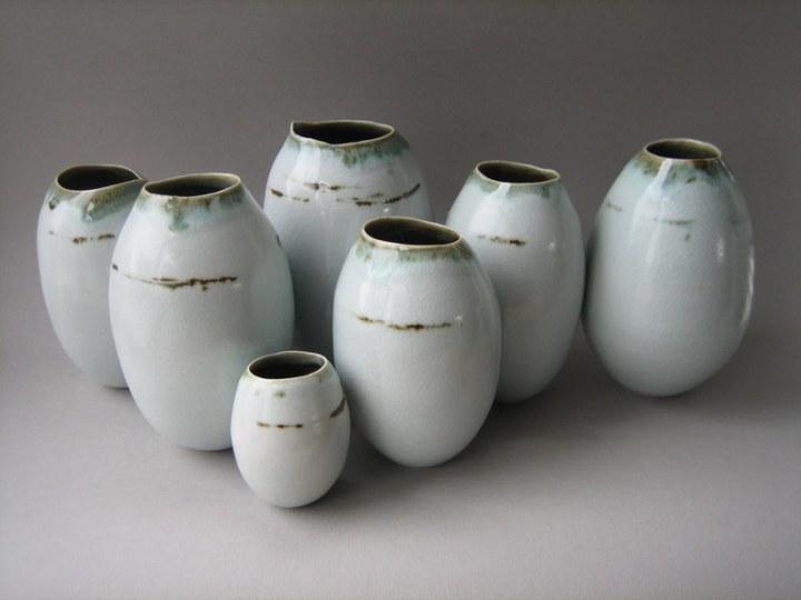 Elaine Bolt, 'Dwelling' vessels - group of seven