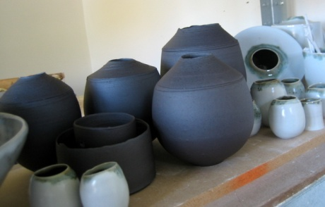 'Dark Metal' and Celadon vessels being unpacked