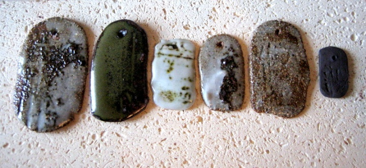 Elaine Bolt stoneware tests 1