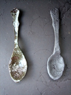Elaine Bolt teaspoons - stoneware and terracotta
