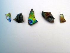 iridescent glass sherds