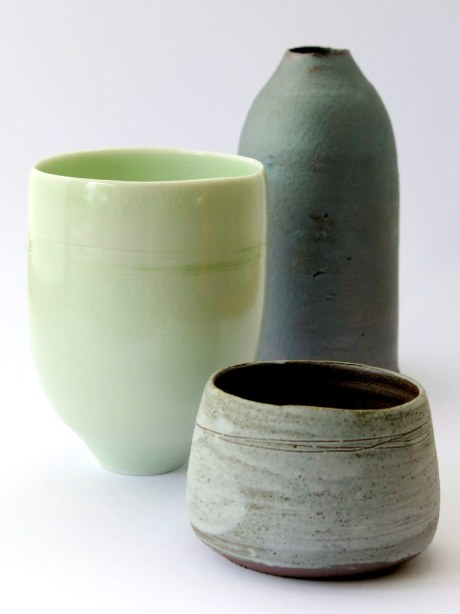 'green' teabowl, 'milk' bottle and small dish