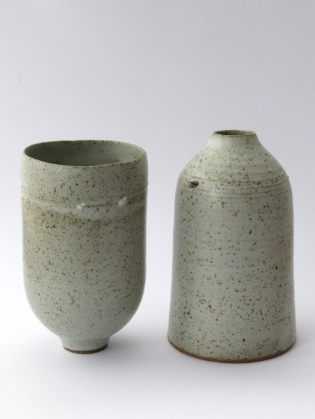 Elaine Bolt stoneware cup and bottle