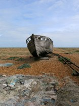 Dungeness, abandoned fishing boat