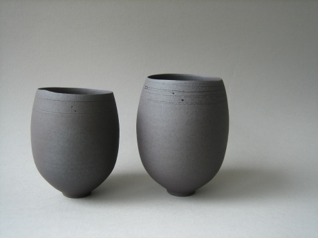 Elaine Bolt - Dark terracotta teabowls