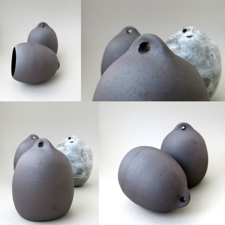 Elaine Bolt terracotta 'Buoys'