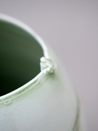 Elaine Bolt, porcelain with green glaze