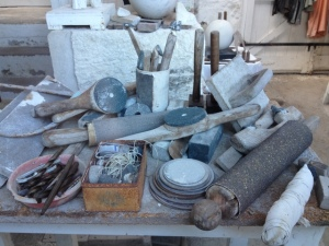 Barbara Hepworth's workshop and tools