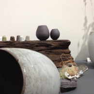 Elaine Bolt Ceramics - buoys, display