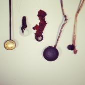 Elaine Bolt Ceramics - individual spoons, detail