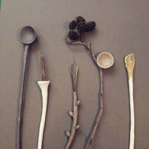 'Woodland Utensils' by Elaine Bolt