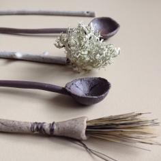 Woodland Utensils by Elaine Bolt