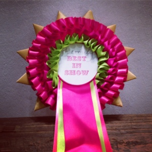 Brighton Art Fair, best in show rosette