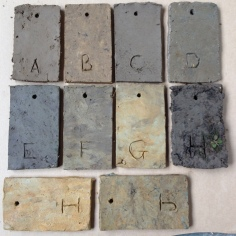 Making Ground test tiles - unfired