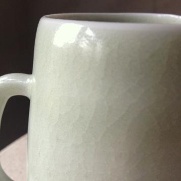 Green crackle jug, Elaine Bolt