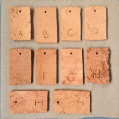 Making Ground test tiles - bisque fired