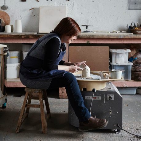 In the Studio of Ceramic artist Elaine Bolt photographed by Alun Callender