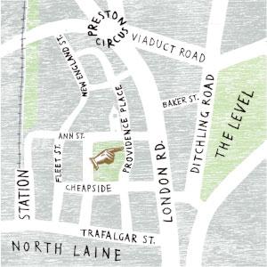 Atelier 51 Brighton map