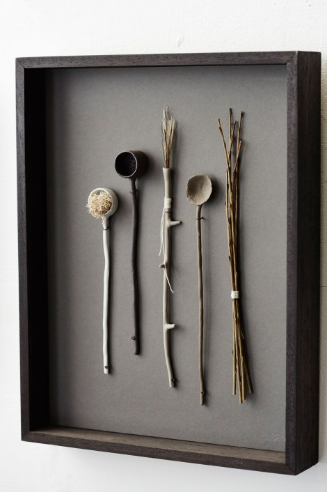 Elaine Bolt Ceramics, Woodland Utensils (photograph by Alun Callender)