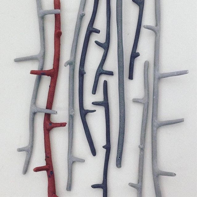 Elaine Bolt -  grey/red twigs