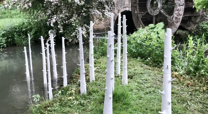 Elaine Bolt - River Trees sculpture installation